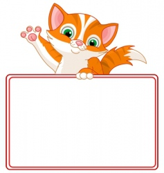 kitten place card vector image
