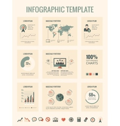 Technology infographic elements vector