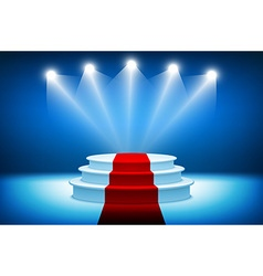 3d of Photorealistic Winner Podium Stage with Blue vector image vector image