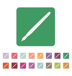 The fountain pen icon vector