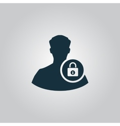 User login or authenticate icon vector