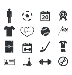 Sport icon set 2 simple vector