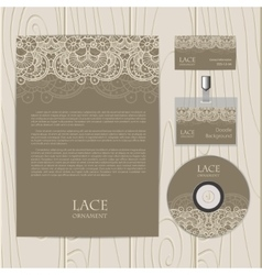 Lace ornament background vector