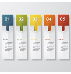 Back 5 steps color banner template vector