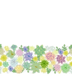 Succulent garden border card design vector