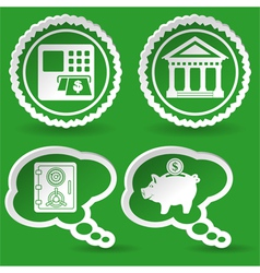 Collect business sticker vector