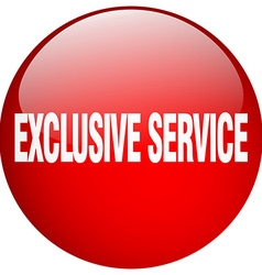 Exclusive service red round gel isolated push vector