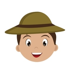 Avatar boy with green hat graphic vector