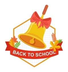 back to school bell logo vector image vector image