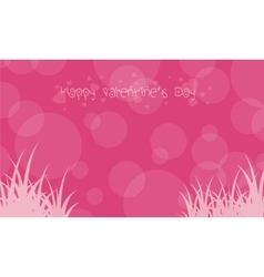 Background with grass and bubble valentine day vector