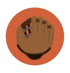 Baseball glove equipment sport vector