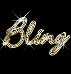 Bling bling word vector image