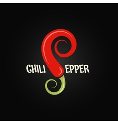 chili pepper design background vector image vector image