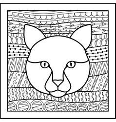 Chinese zodiac sign cat vector