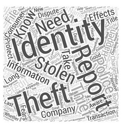 Do You Know What To Do If Your Identity Is Stolen vector image vector image