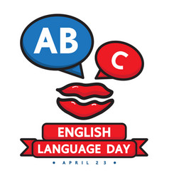 English language day vector