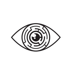 eye maze icon vector image