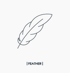 feather outline icon vector image
