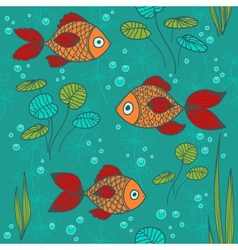 Fishes in a pond vector image