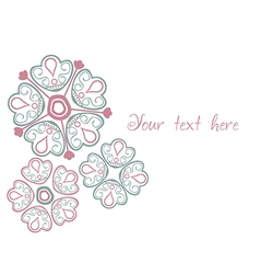 Floral greeting card with place for your text vector image vector image