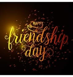 hand drawn happy friendship vector image