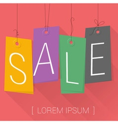 Hanging Price Tags Sale labels vector image vector image