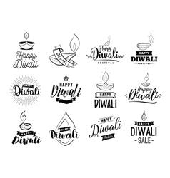 Happy diwali typogrpahy vector