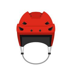 Hockey helmet icon flat style vector