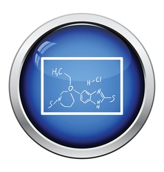 Icon of chemistry formula on classroom blackboard vector image