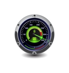 Illuminated speedometer vector