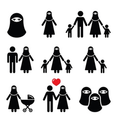Muslim woman in burqa or burkha bourkha burka vector image vector image