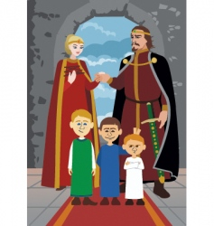 Noble family vector