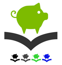 Pig knowledge flat icon vector