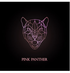 pink panther logo design vector image vector image