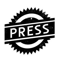 Press stamp rubber grunge vector image