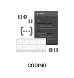 program coding icon vector image