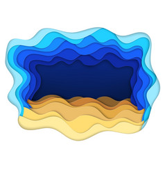 Sea bottom and sand waves vector