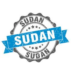 Sudan round ribbon seal vector