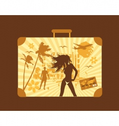 summer holiday suitcase vector image