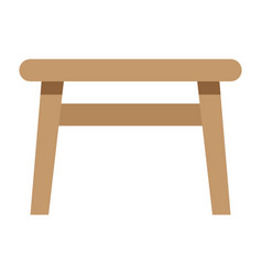 Table flat icon furniture and interior vector