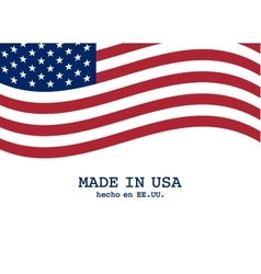 Usa flag marketing and production design vector