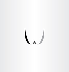 w letter black logo w vector image