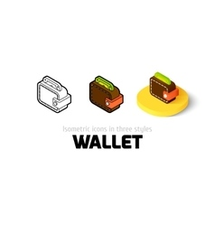 Wallet icon in different style vector image