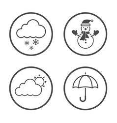 winter season icon design simple rounded weather vector image