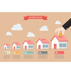 Hand collect the money in house piggy bank vector