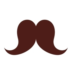 Mustache hipster style isolated icon vector