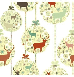 Christmas snowflakes bauble pattern vector