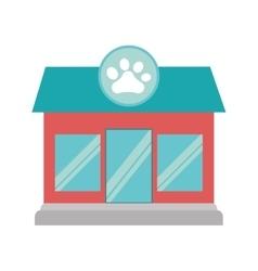 pet shop store building vector image