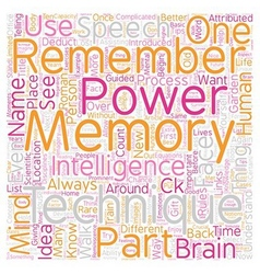 Memory techniques tips text background wordcloud vector