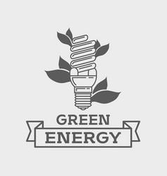 Efficient fluorescent light bulb logo concept vector